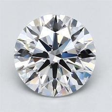 2.09-Carat Round Diamond Ideal F VVS1