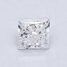0.90 Carat 公主方形 Diamond 非常好 E VS1