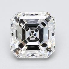 Recommended Stone #4: 2.02-Carat Asscher Cut Diamond
