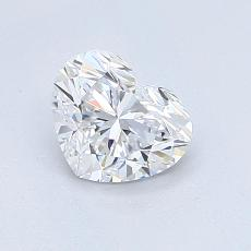 0,88-Carat Heart Diamond Very Good D IF