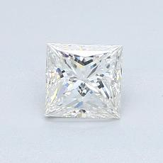 0.71-Carat Princess Diamond Very Good F VVS1