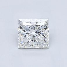 0.80-Carat Princess Diamond Very Good F VVS1