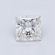 推荐宝石 4:0.81 克拉公主方形钻石