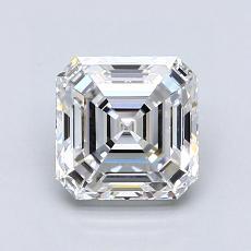 1.51-Carat Asscher Diamond Very Good F VVS2