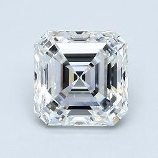 1.31-Carat Asscher Diamond Very Good G VVS2
