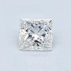 0.80 Carat Princesa Diamond Muy buena F VS1
