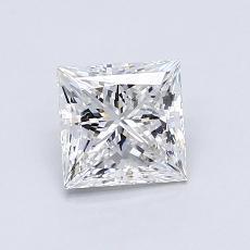 0.94-Carat Princess Diamond Very Good D VVS2