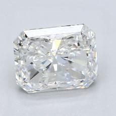Pierre cible: Diamant taille radiant 1,93 carats