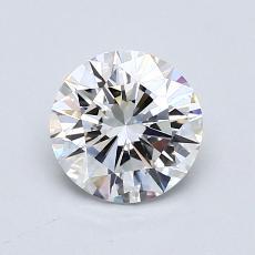 1.00 Carat 圆形 Diamond 非常好 F VVS2