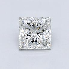 0.82 Carat 公主方形 Diamond 非常好 E VS2