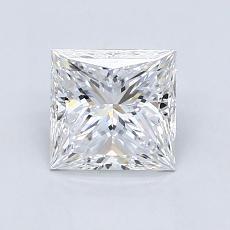 1.23-Carat Princess Diamond Very Good D VVS1