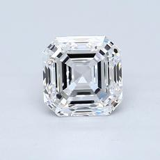 1.00-Carat Asscher Diamond Very Good D VVS1