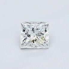 0.52-Carat Princess Diamond Very Good E VVS1