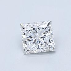 0.71-Carat Princess Diamond Good E VS2