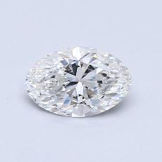 1.06 Carat 椭圆形 Diamond 良好 F SI2