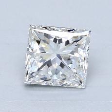 1.04 Carat 公主方形 Diamond 良好 E VS1