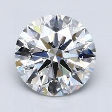 2.06-Carat Round Diamond Ideal E VS1