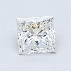 1.00 Carat 公主方形 Diamond 非常好 D VVS2