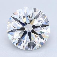 推荐宝石 2:4.40克拉圆形切割钻石