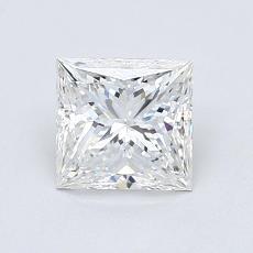 1.05 Carat 公主方形 Diamond 非常好 F IF