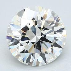 3,01-Carat Round Diamond Ideal I VS1