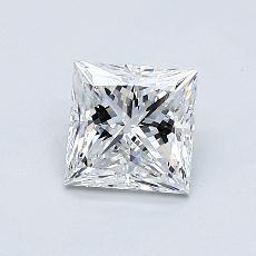 0.81-Carat Princess Diamond Very Good E VS1