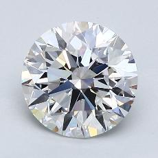 1.70-Carat Round Diamond Ideal E VVS2