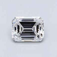 0.92-Carat Emerald Diamond Very Good E VS2