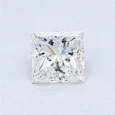 0.80 Carat 公主方形 Diamond 非常好 E VVS2