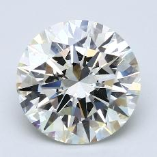 4.02-Carat Round Diamond Ideal K VS1