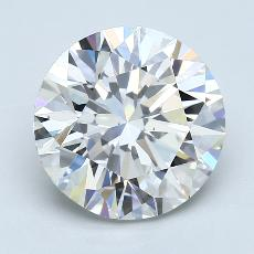 4.17-Carat Round Diamond Ideal I VS2
