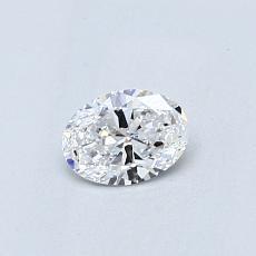 0.31 Carat 椭圆形 Diamond 非常好 D IF