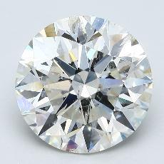 Pierre recommandée n°3: Diamant taille ronde 4,58 carat