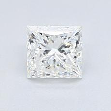 推荐宝石 4:0.97 克拉公主方形钻石