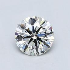0.96-Carat Round Diamond Ideal H VVS1
