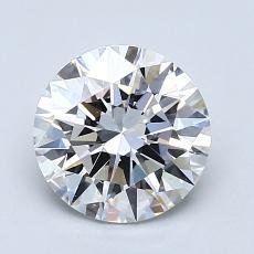 1.51-Carat Round Diamond Ideal F VS1