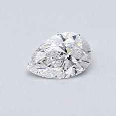 0.41-Carat Pear Diamond Very Good E VVS2