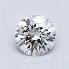 1.00-Carat Round Diamond Ideal H VVS2