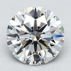 3.01-Carat Round Diamond Ideal H VS1