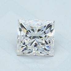 1.23-Carat Princess Diamond ASTOR G VS2