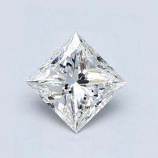 Recommended Stone #4: 0,74-Carat Princess Cut Diamond