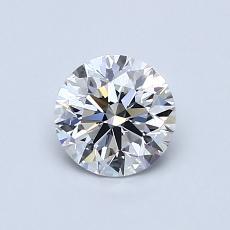 0.70-Carat Round Diamond Ideal F VVS2