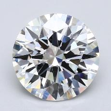 4.30-Carat Round Diamond Ideal E VVS2