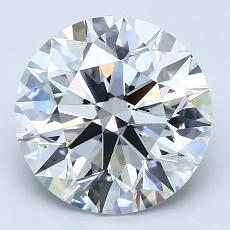 4.17-Carat Round Diamond Ideal F VS1
