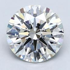 Target Stone: 3.01-Carat Round Cut Diamond