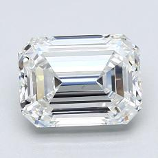 2,03-Carat Emerald Diamond Very Good F VS1