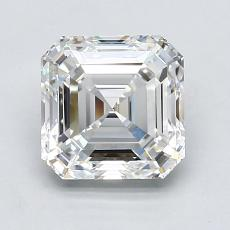 Piedra recomendada 4: con diamante Talla Asscher de 2.05 quilates