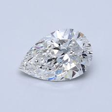 0.71-Carat Pear Diamond Very Good F VS1
