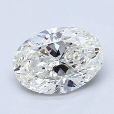 1.50 Carat Ovalado Diamond Muy buena H VS1