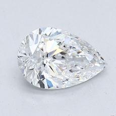1,00-Carat Pear Diamond Very Good D VVS2
